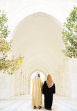 Arabic Muslim couple. Are walking Stock Photography