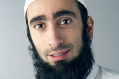 Arabic Muslim man with beard portrait Stock Photography