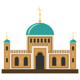 Arabic muslim mosque and minaret. Flat design, vector illustration, vector Royalty Free Stock Photography
