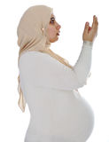 Arabic Muslim pregnant woman Royalty Free Stock Image