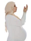 Arabic Muslim pregnant woman Royalty Free Stock Image