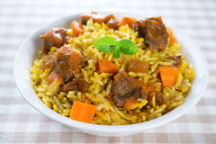 Arabic mutton rice. Arab middle eastern  food Stock Photography