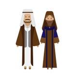 Arabic national dress. Illustration of national costume on white background Stock Photo