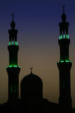 Arabic Night. Mosque in the evening, Hurghada, Egypt, silhouette Stock Photography