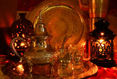 Arabic Nights. Oriental warm nights in a tent Stock Photography