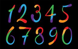 Arabic numerals set 1-10 Stock Image