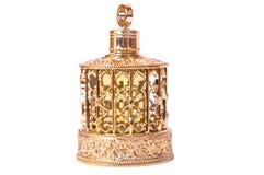 Arabic oil perfume. Flacon of arabic oil perfume on white background Royalty Free Stock Image
