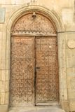 Arabic oriental arch styled door in Azerbaijan in old town. Old town Royalty Free Stock Photo