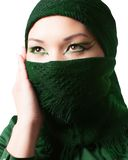 Arabic Oriental makeup,portrait of asian kazakh woman with professional make-up Stock Photo