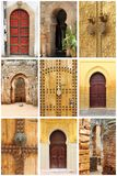 Arabic oriental styled doors. Collage of arabic oriental styled doors Royalty Free Stock Photo