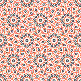 Arabic ornament with abstract flowers. Rich, elegant colorful pattern with big abstract flowers. Floral background with arabic, indian, moroccan, eastern ethnic Stock Images