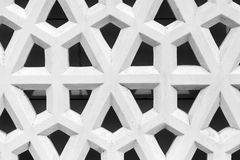 Arabic ornament, background photo texture. Abstract geometric pattern, white stone lattice with Arabic ornament, background photo texture Royalty Free Stock Photos