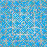 Arabic ornament. Background with a seamless pattern in Arabian style Royalty Free Stock Images