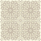Arabic ornament. Background with a seamless pattern in Arabian style royalty free illustration