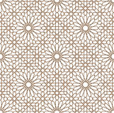 Arabic ornament. Background with a seamless pattern in Arabian style stock illustration
