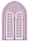 Arabic ornament. Background with seamless pattern in Arabian style vector illustration