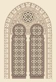 Arabic ornament. Background with seamless pattern in Arabian style stock illustration