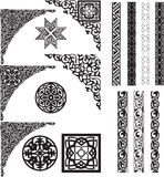Arabic ornament corners and dividers Stock Photo