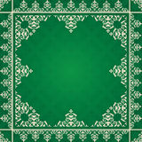 Arabic vector ornament on green background Stock Photos