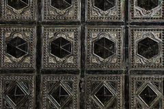 Arabic ornament. Pattern texture on the doors Royalty Free Stock Images