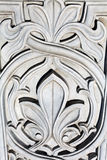 Arabic ornament pattern texture on the doors. Arabic ornament pattern texture on the white doors Stock Photography