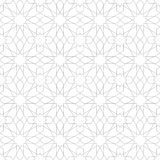 Arabic ornament seamless pattern. Arabic classic ornament outline pattern, vector seamless background Stock Photo