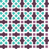 Arabic ornament seamless pattern. Arabic classic ornament outline pattern, vector seamless background Stock Image