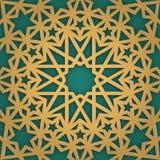 Arabic ornament seamless pattern. Geometrical girish tracery. Muslim mosaic to ramadan careem holiday. Stock Images