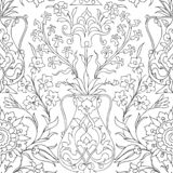Traditional Arabic ornament seamless. Floral Ornamental pattern. Iznik .Vector. Background royalty free illustration