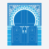 Arabic ornament. Vector illustration of a door in Arabian style Royalty Free Stock Images
