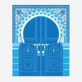 Arabic ornament. Vector illustration of a door in Arabian style vector illustration
