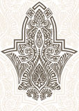 Arabic ornament. Arabic vintage seamless ornament for background design royalty free illustration