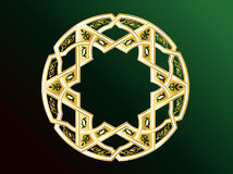 Arabic Ornaments. Simple Illustration for Arabic Ornament Symbols and Backgrounds Stock Image