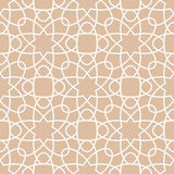 Arabic ornaments. Brown vintage seamless pattern Stock Images