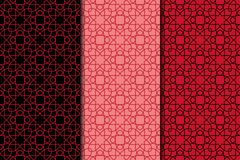 Arabic ornaments. Red vintage seamless pattern Royalty Free Stock Images