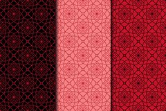 Arabic ornaments. Red vintage seamless pattern Royalty Free Stock Photography