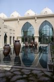 Arabic Palace Courtyard. A reflecting pool within an arabic courtyard Stock Photos