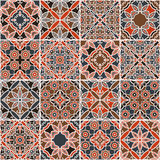 Arabic patchwork background made of sixteen pieces Royalty Free Stock Photography