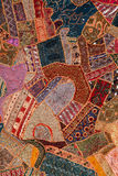 Arabic patchwork quilt. Bright handmade arabic patchwork quilt Stock Images