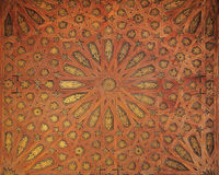 Arabic pattern at Alhambra palace Royalty Free Stock Photography
