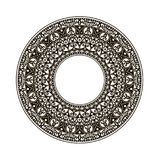 Arabic pattern in the circle Stock Images