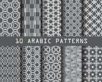 Arabic pattern. 10 different arabic patterns, Pattern Swatches, vector, Endless texture can be used for wallpaper, pattern fills, web page,background,surface royalty free illustration