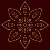 Arabic pattern. geometry pattern in vector. Royalty Free Stock Images
