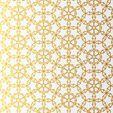 Arabic pattern gold style. Traditional arab east geometric decorative background. Stock Images