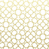 Arabic pattern gold style. Traditional arab east geometric decorative background. Royalty Free Stock Photos
