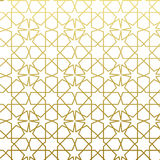 Arabic pattern gold style. Traditional arab east geometric decorative background. Royalty Free Stock Photography