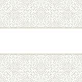 Arabic pattern. Invitation card with frame Stock Image
