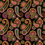 Arabic pattern with paisley Royalty Free Stock Photo