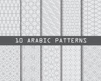 Arabic pattern. 10 arabic patterns,  Pattern Swatches, vector, Endless texture can be used for wallpaper, pattern fills, web page,background,surface Royalty Free Stock Photography