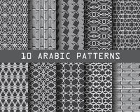 Arabic pattern. 10 arabic patterns, Pattern Swatches, vector, Endless texture can be used for wallpaper, pattern fills, web page,background,surface Royalty Free Illustration